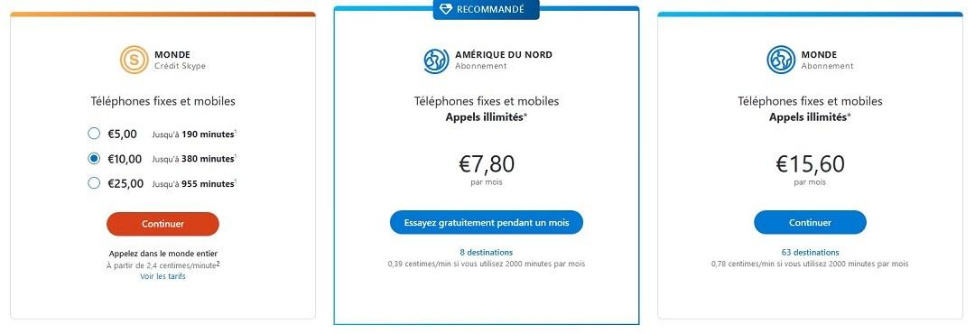 Skype abonnement essai gratuit Alexa