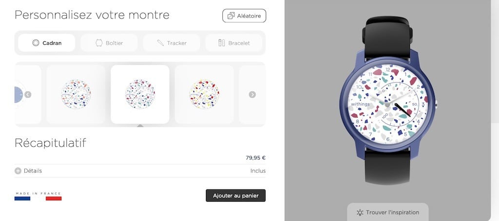 Withings Move configurateur prix modeles avis