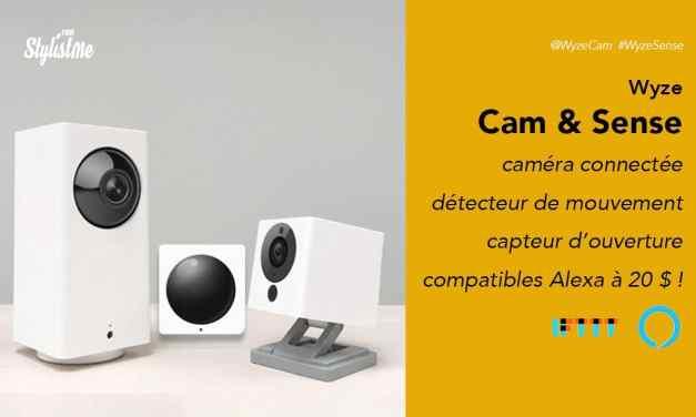 Wyze Sense Wyse Cam détecteurs et caméras connectés avec Alexa à 20 € !