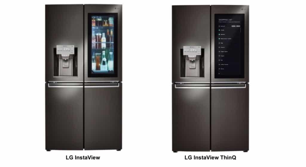 Comparatif réfrigérateurs congélateur connecté LG InstaView ThinQ