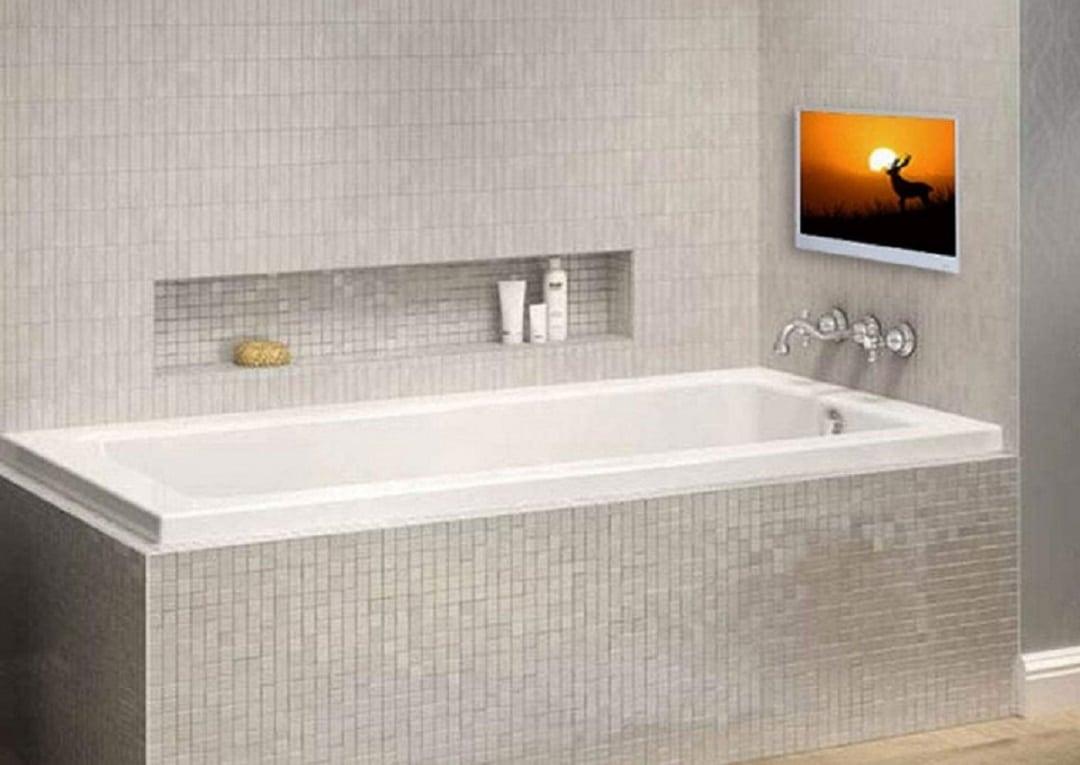 Soulaca télé miroir salle de bain connectée