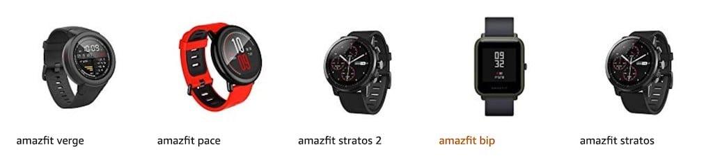 gamme Amazfit Huami Xiaomi Bip S 2020