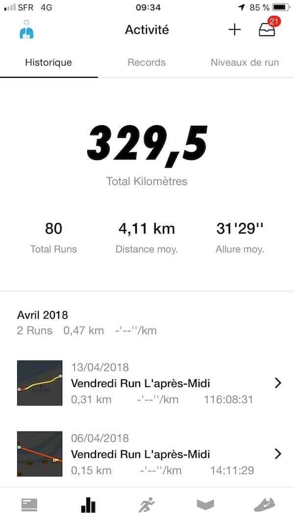 Google Fit Nike Run