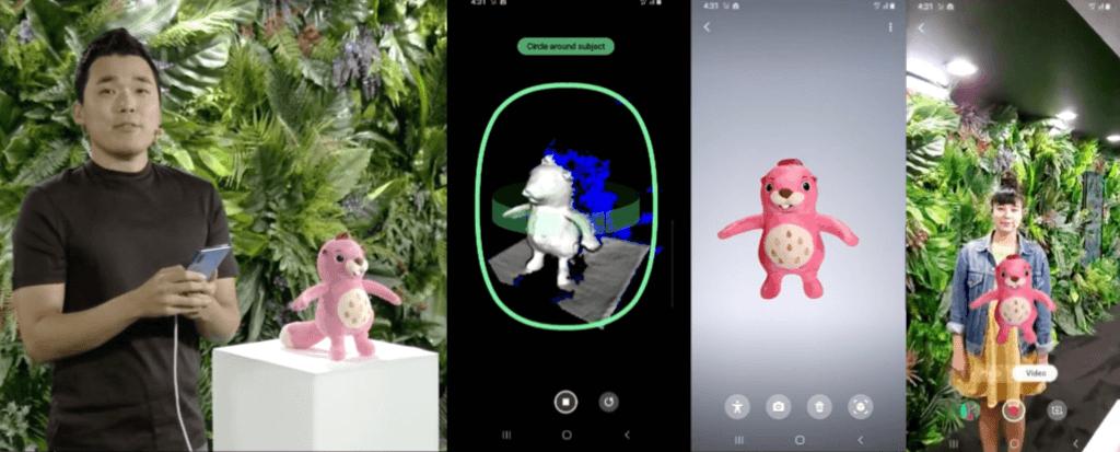 Modélisation 3D réalité augmentée Galaxy Note 10