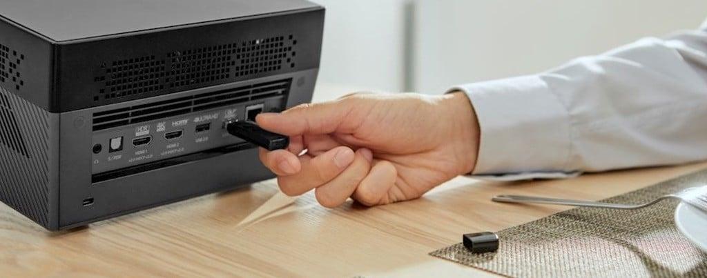 Optoma UHL55 4K USB streaming