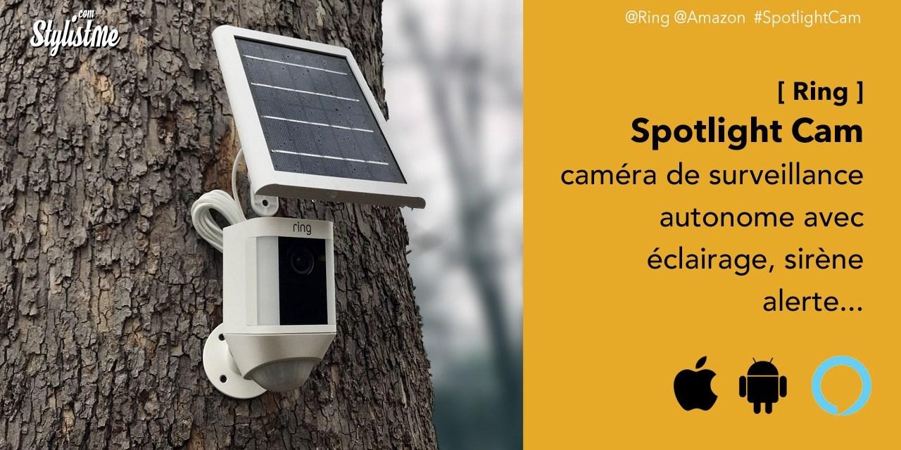 Ring Spotlight Cam avis prix test Caméra de surveillance connectée 5 en 1