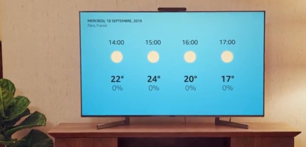 Facebook Portal afficher la météo