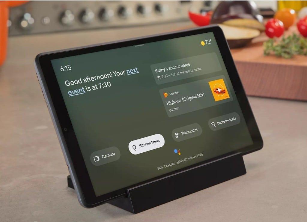 Mode Ambiant Google Assistant sur tablette Lenovo