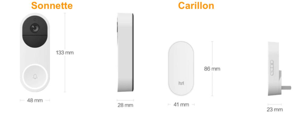 Xiaomo sonnette carillon sans fil connecté