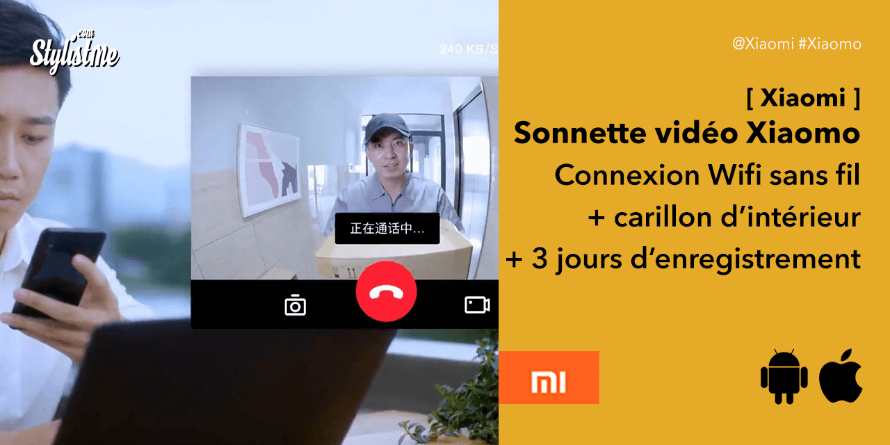 Xiaomo la sonnette vidéo sans fil de Xiaomi Mi Home vraiment pas cher