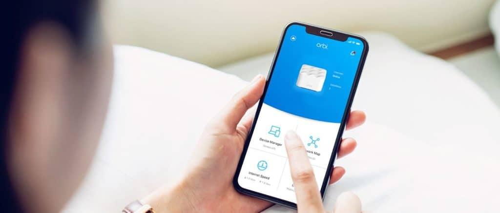 App Orbi pour gérer réseau wifi maillé à distance
