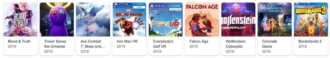 meilleur PS VR 2019