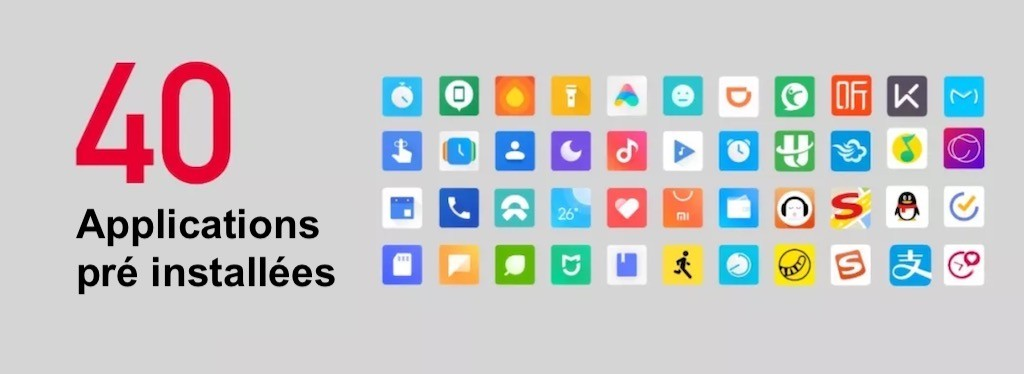 Xiaomi Mi Watch 40 applications installées
