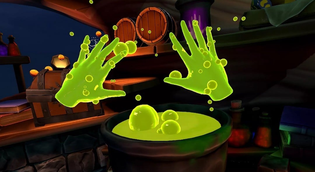 Elixr premier jeu suivi des mains oculus quest
