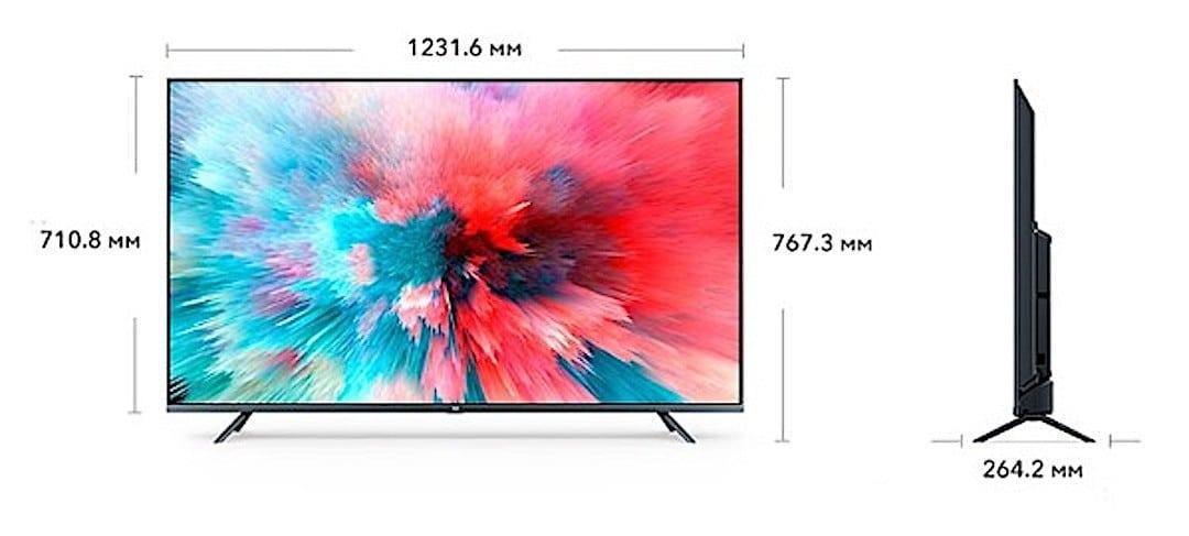 Dimensions Xiaomi Mi Tv 4S 55 pouces