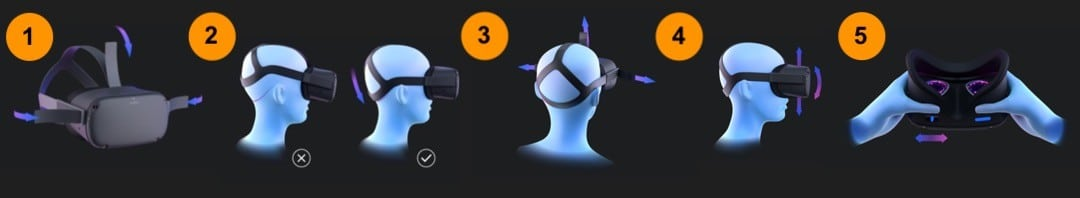 mettre ajuster Oculus Quest réglages