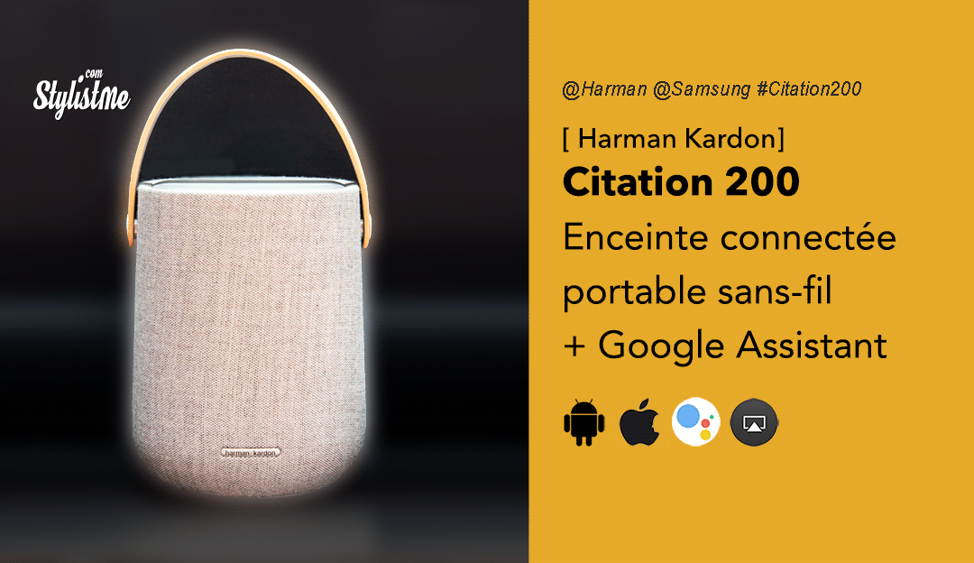 Citation 200 Harman Kardon enceinte portable sans-fil Google Assistant