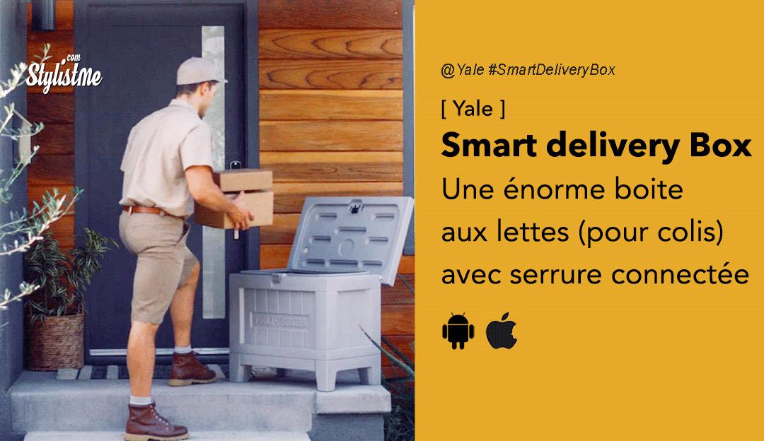 Smart-delivery-box-Yale boite aux lettres connectée