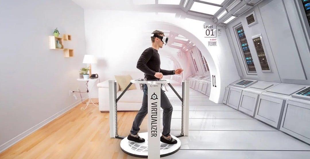 tapis roulant pour réalité virtuelle