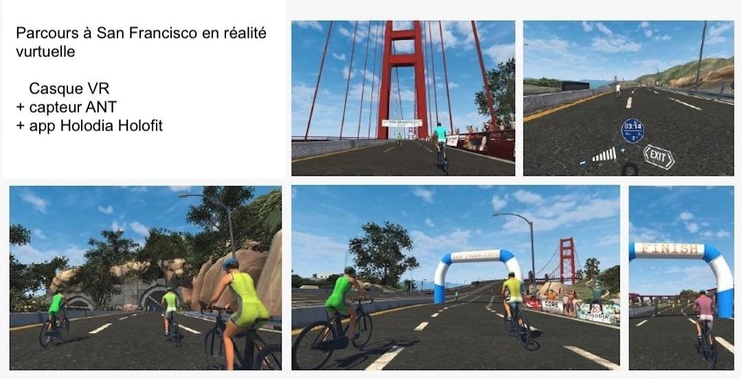 vélo rameur réalité augmentée Holodia Holofit