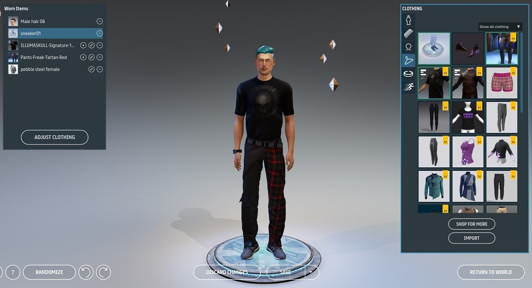 créer son avatar Sansar