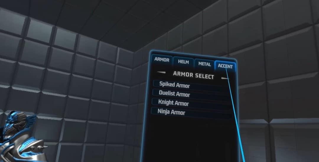 Ironlights VR personnalisation équipement