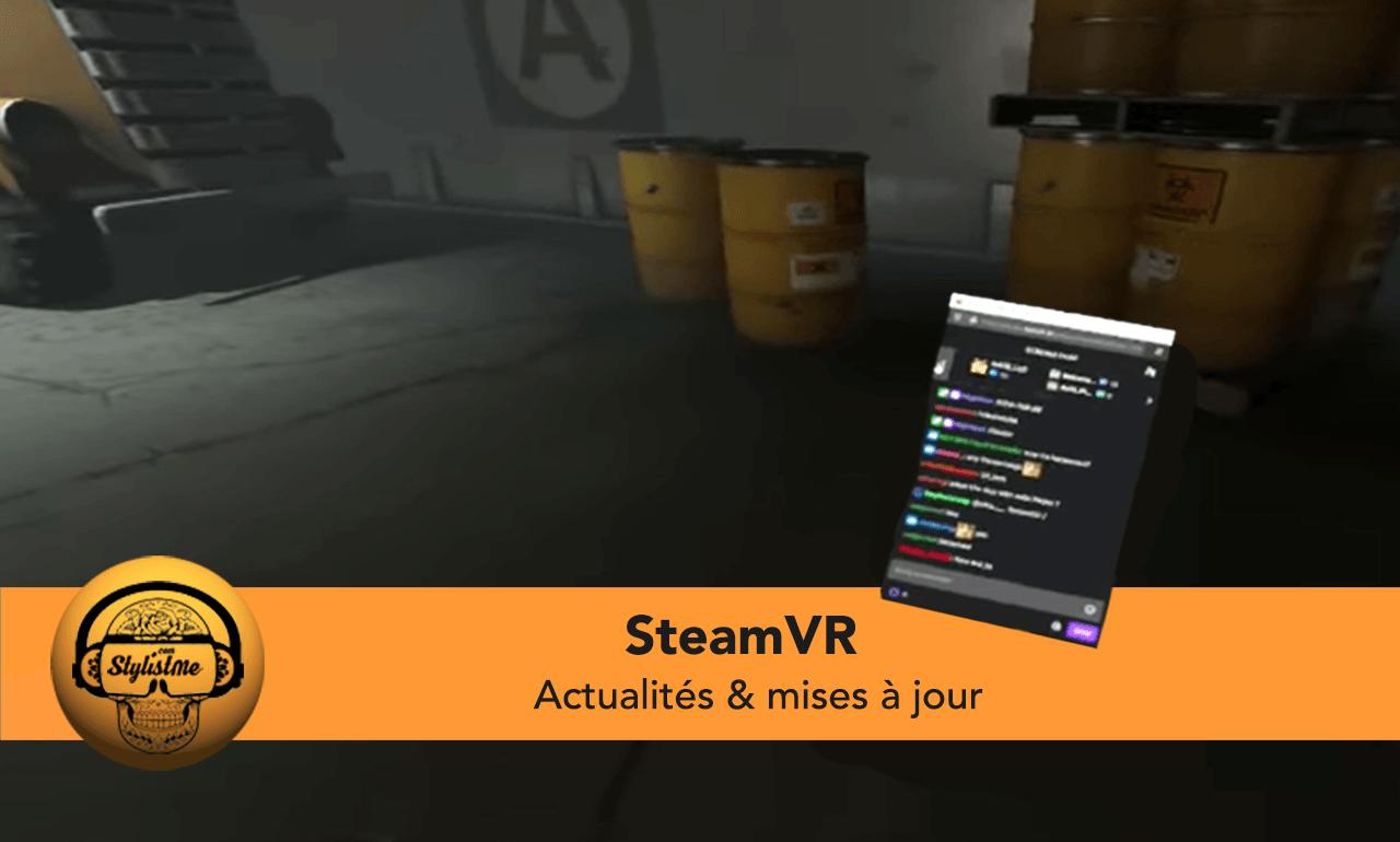 SteamVR mise à jour