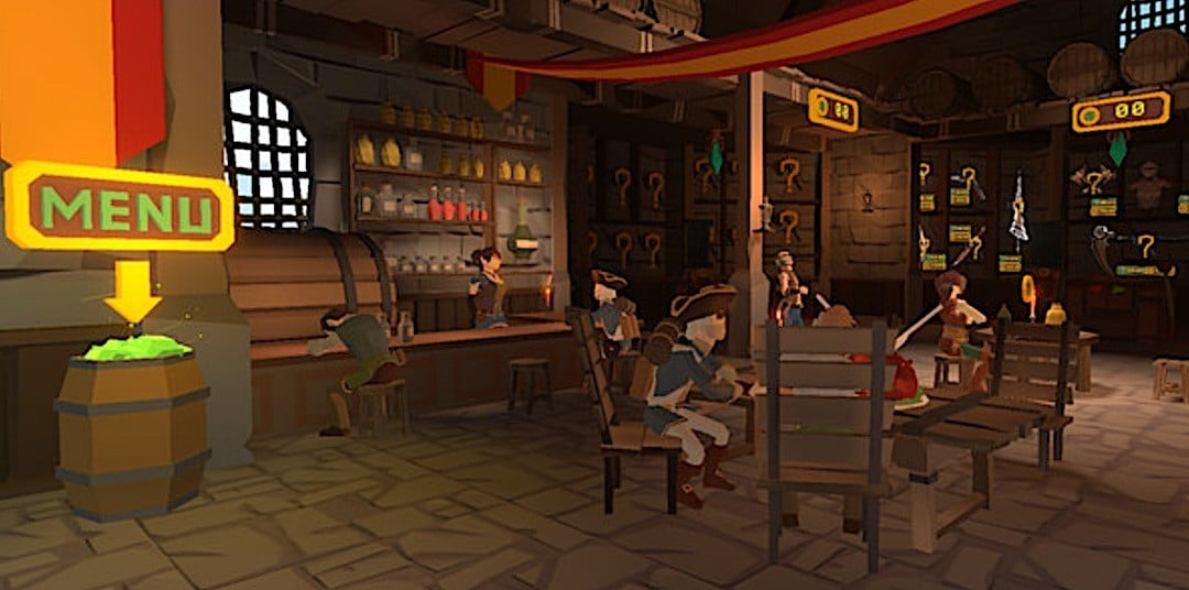 Axegend VR gameplay menu achat materiel