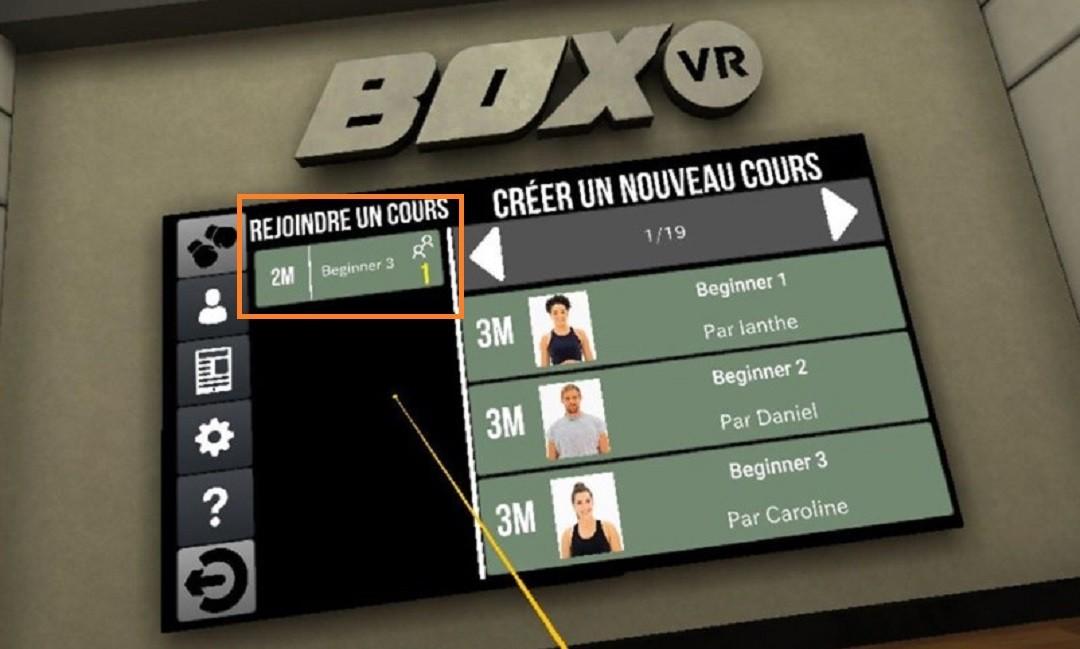 BoxVR comment créer ou rejoindre partie multijoueur