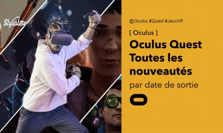 Sorties Oculus Quest 2020 jeux en réalité virtuelle avec date de sortie