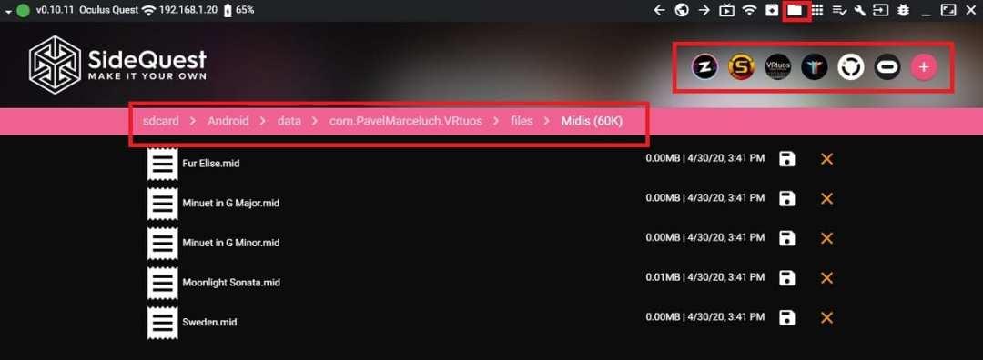 tuto SideQuest ajouter musique films