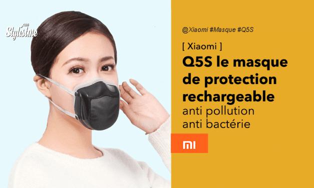 Xiaomi Q5S : un nouveau masque de protection rechargeable sur USB