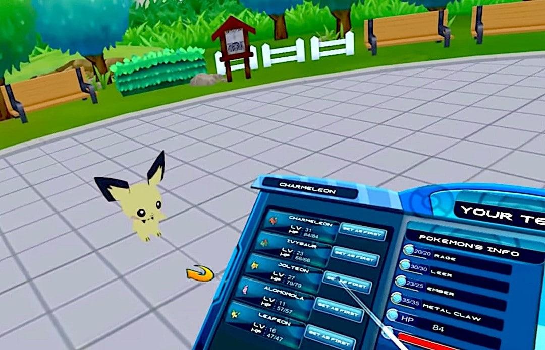 Pokemon VR jeu en réalité virtuelle Oculus