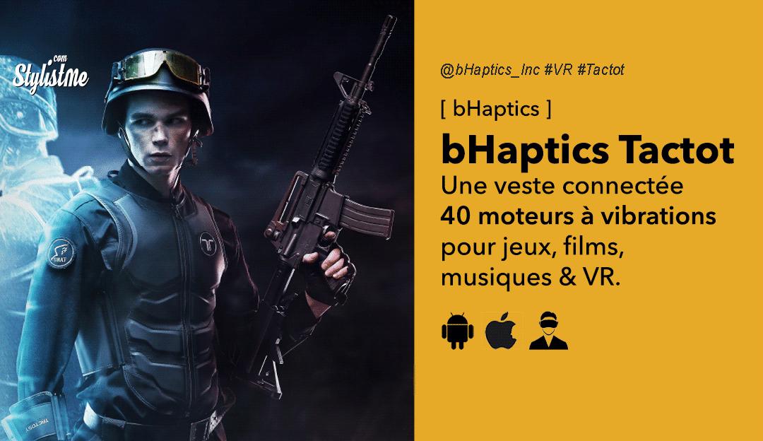 bHaptics Tacsuit la veste retour haptique pour jeux PC et réalité virtuelle