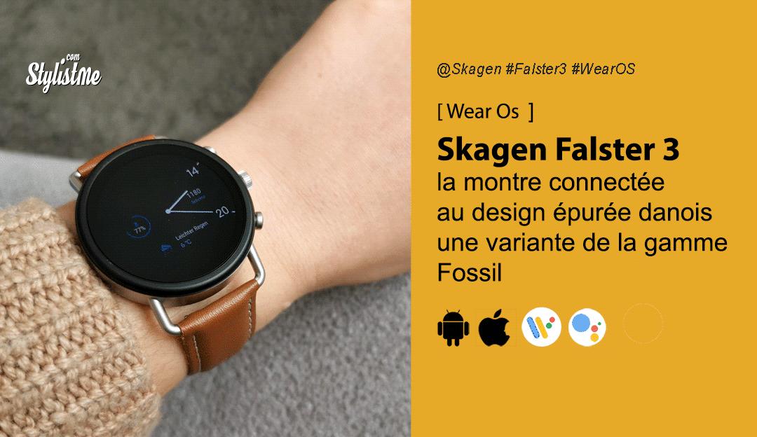 Skagen Falster 3 l'une des montres Wear OS les plus performantes