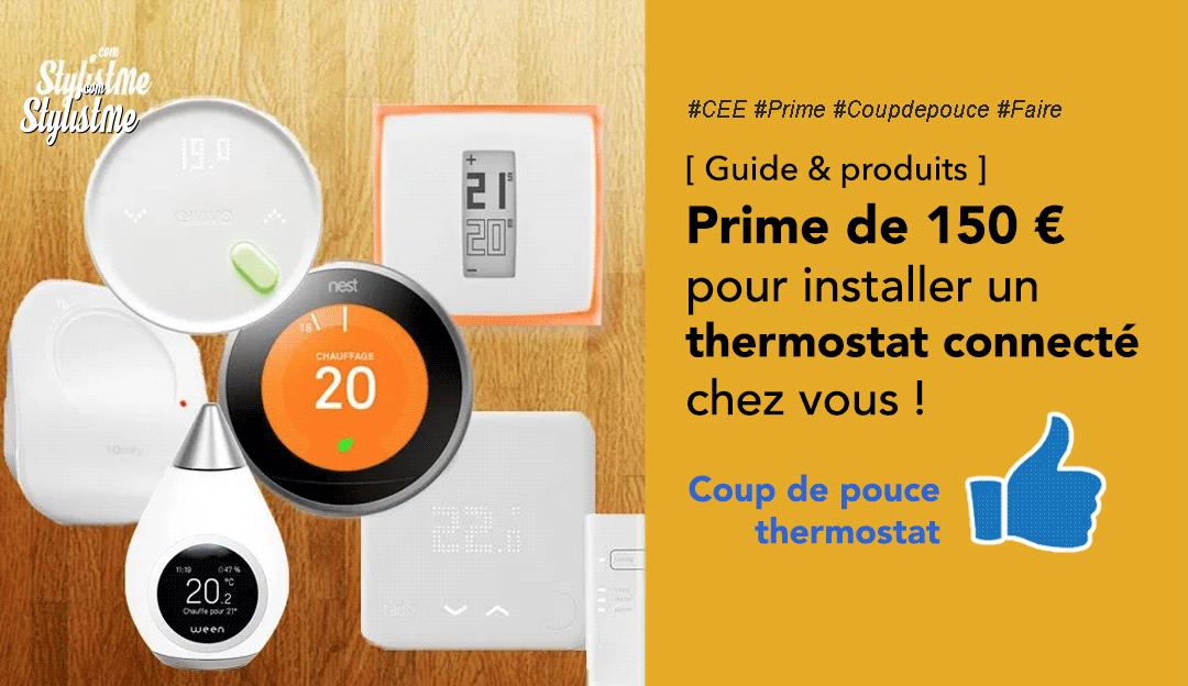 Prime coup de pouce thermostat condition montant produit