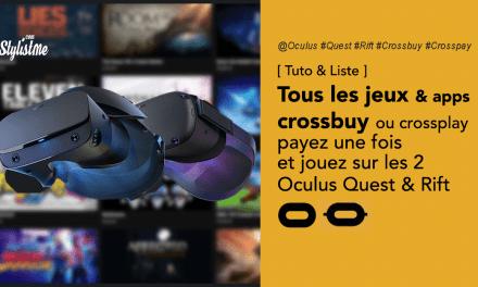 Jeux Oculus crossbuyou crosspay pour casques VR Oculus Rift et Oculus Quest