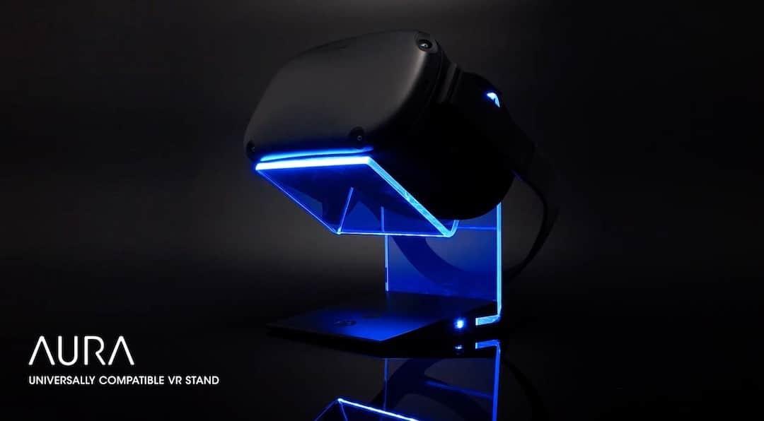 Asterion Aura socle LED casque réalité virtuelle