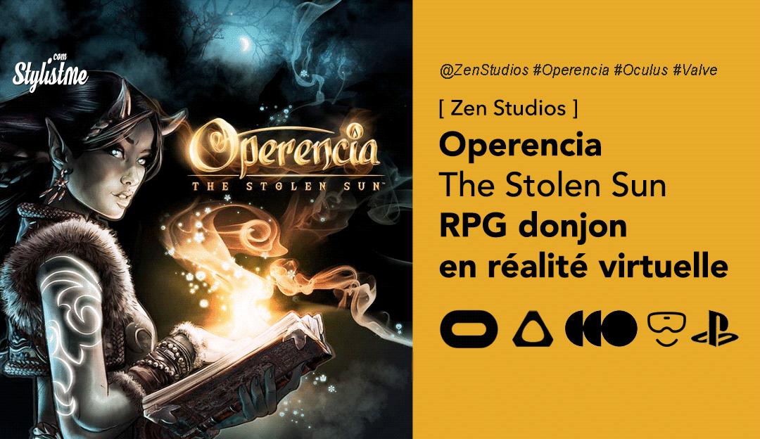 Operencia the stolen sun VR avis test prix date