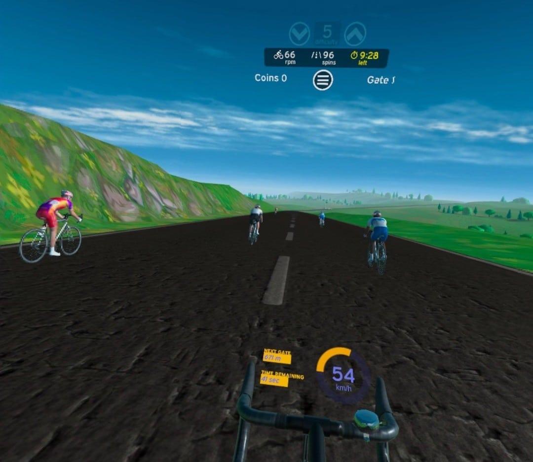 Test VZFit Play course vélo en VR