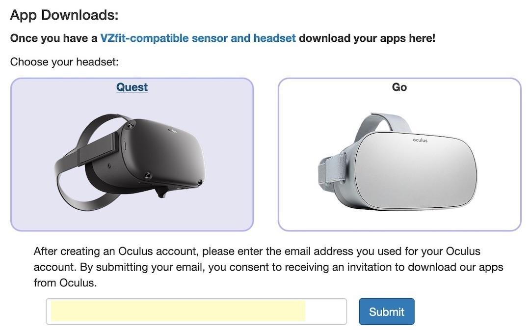 comment télécharger app VZFit Oculus