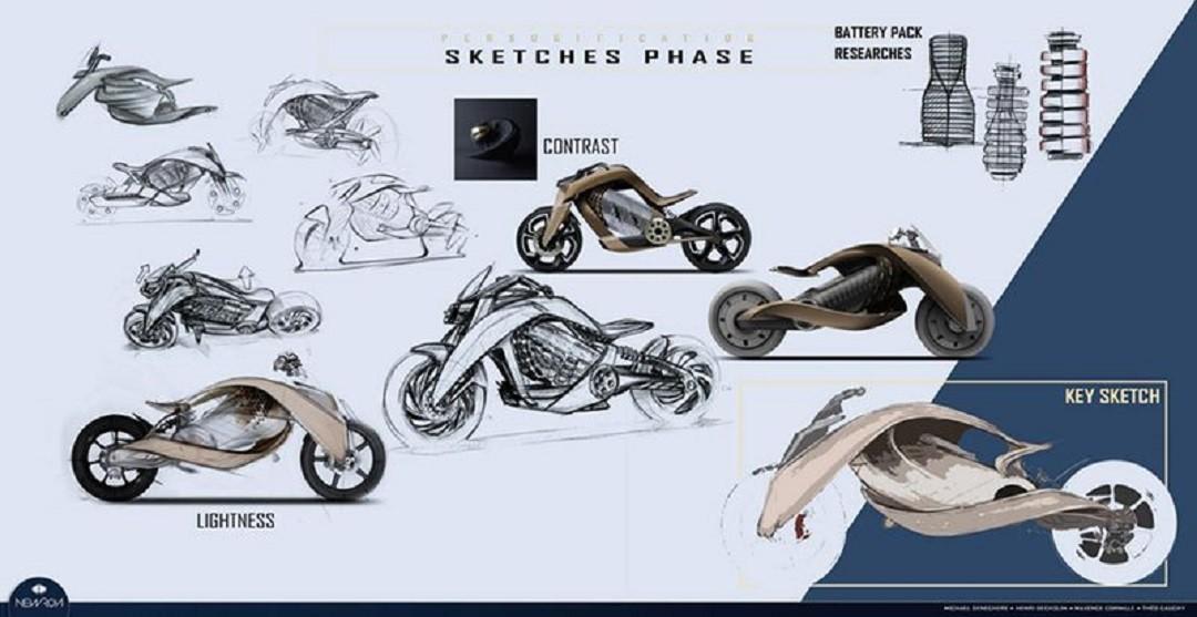 Newron EV 1 croquis design et luxe français