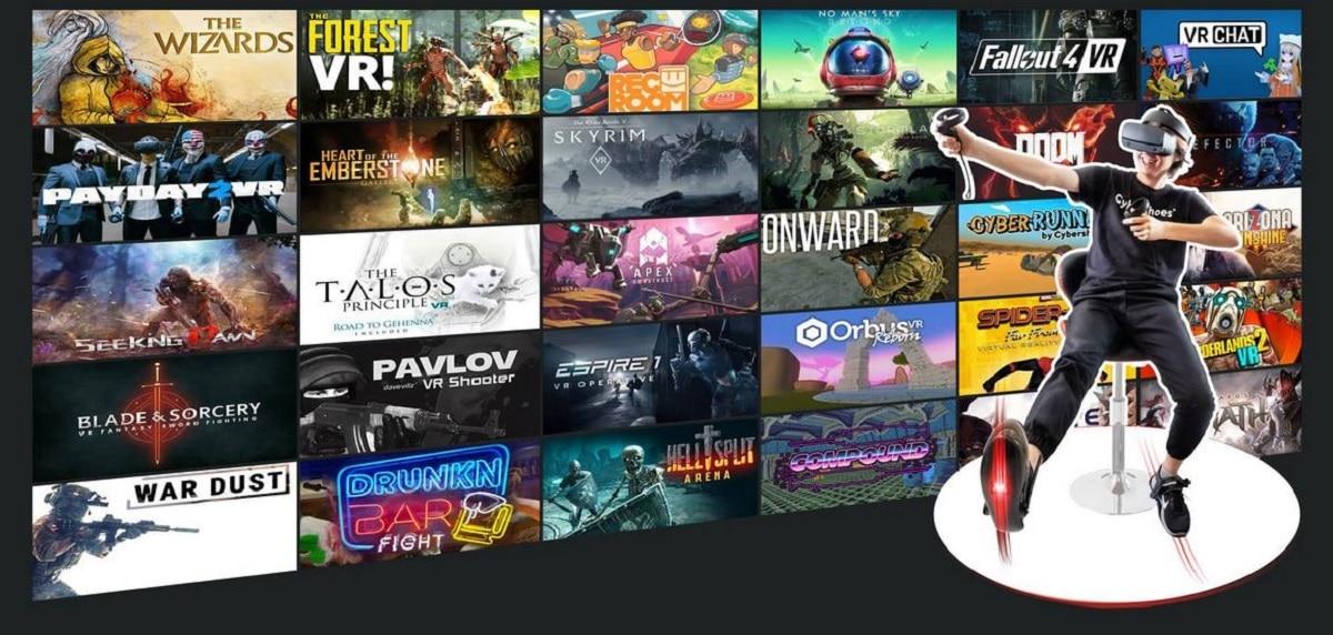 Jeux compatibles Cybershoes