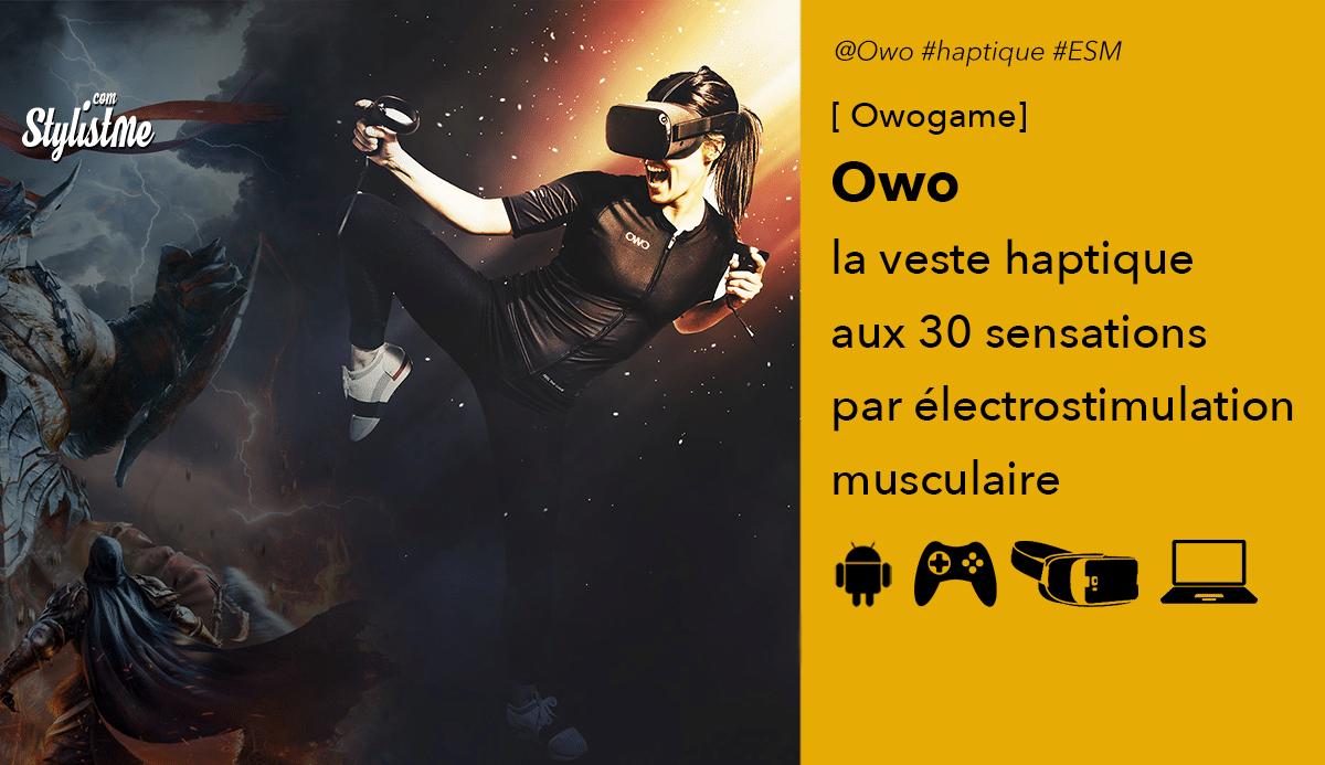 Owo veste haptique VR PC Console smartphone