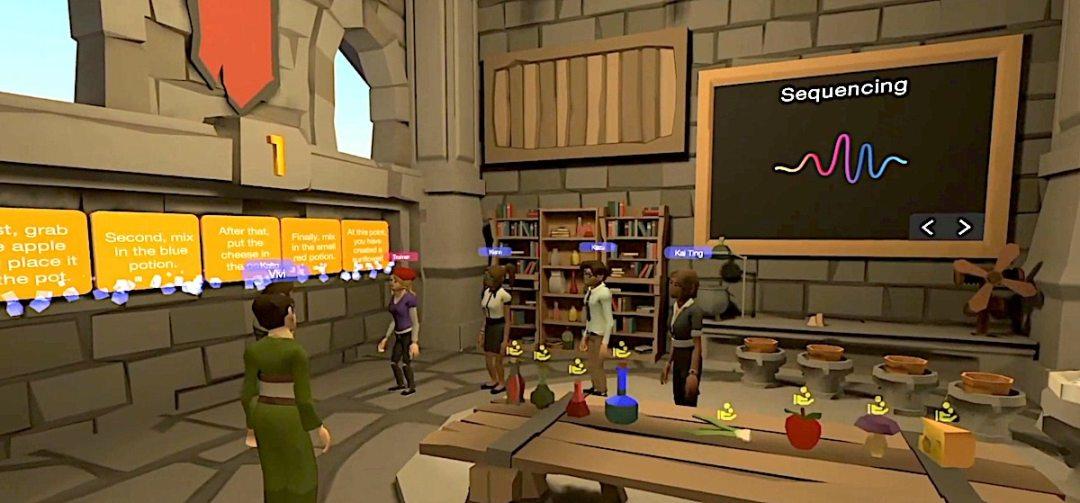 leçon anglais VR casque réalité virtuelle