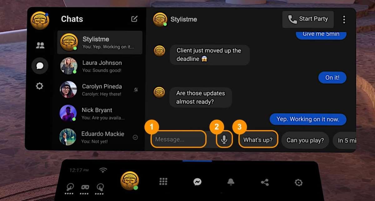 Messenger VR Oculus Quest Tuto