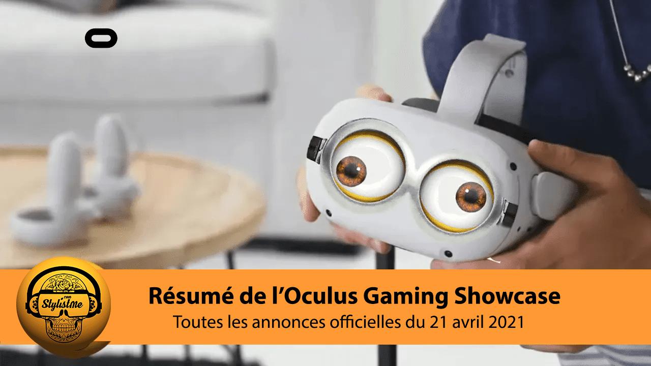 Annonces Oculus Gaming Showcase 2021