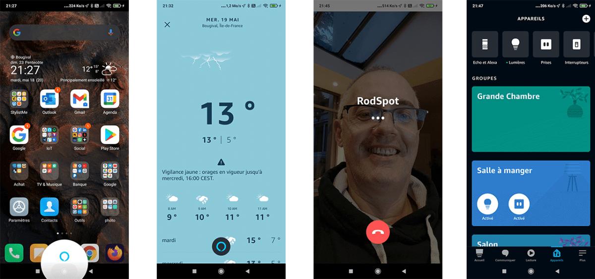 Commandes vocales Alexa sur smartphone