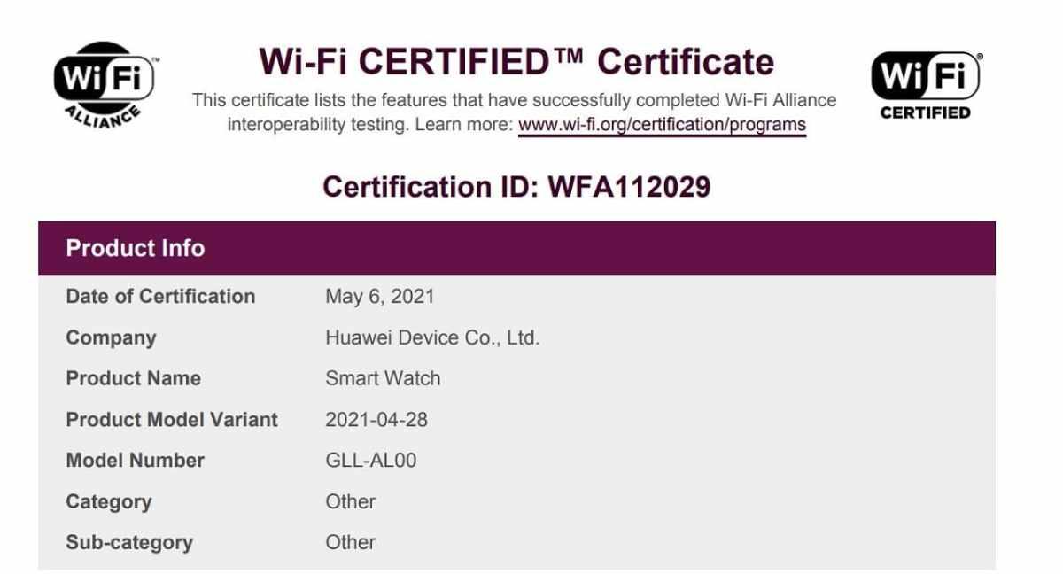 Huawei Watch 3 Wi-Fi