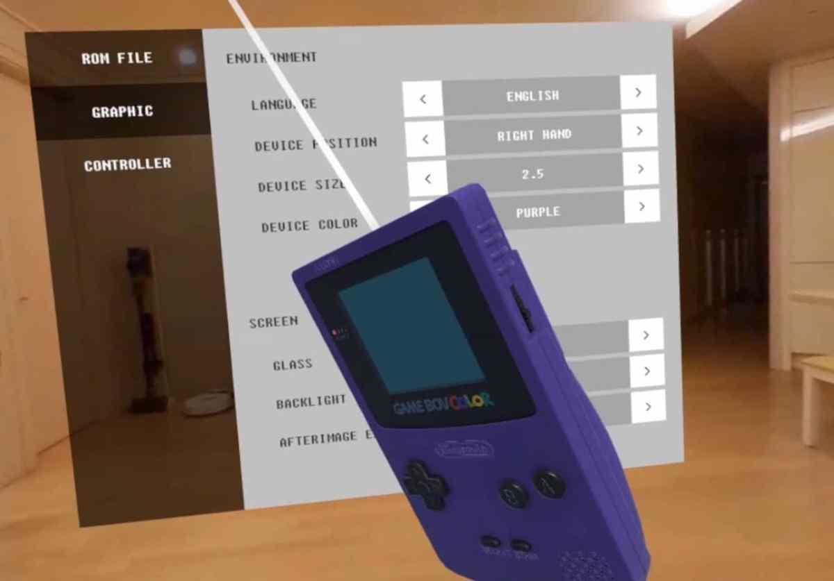 Paramètres GameBov Quest